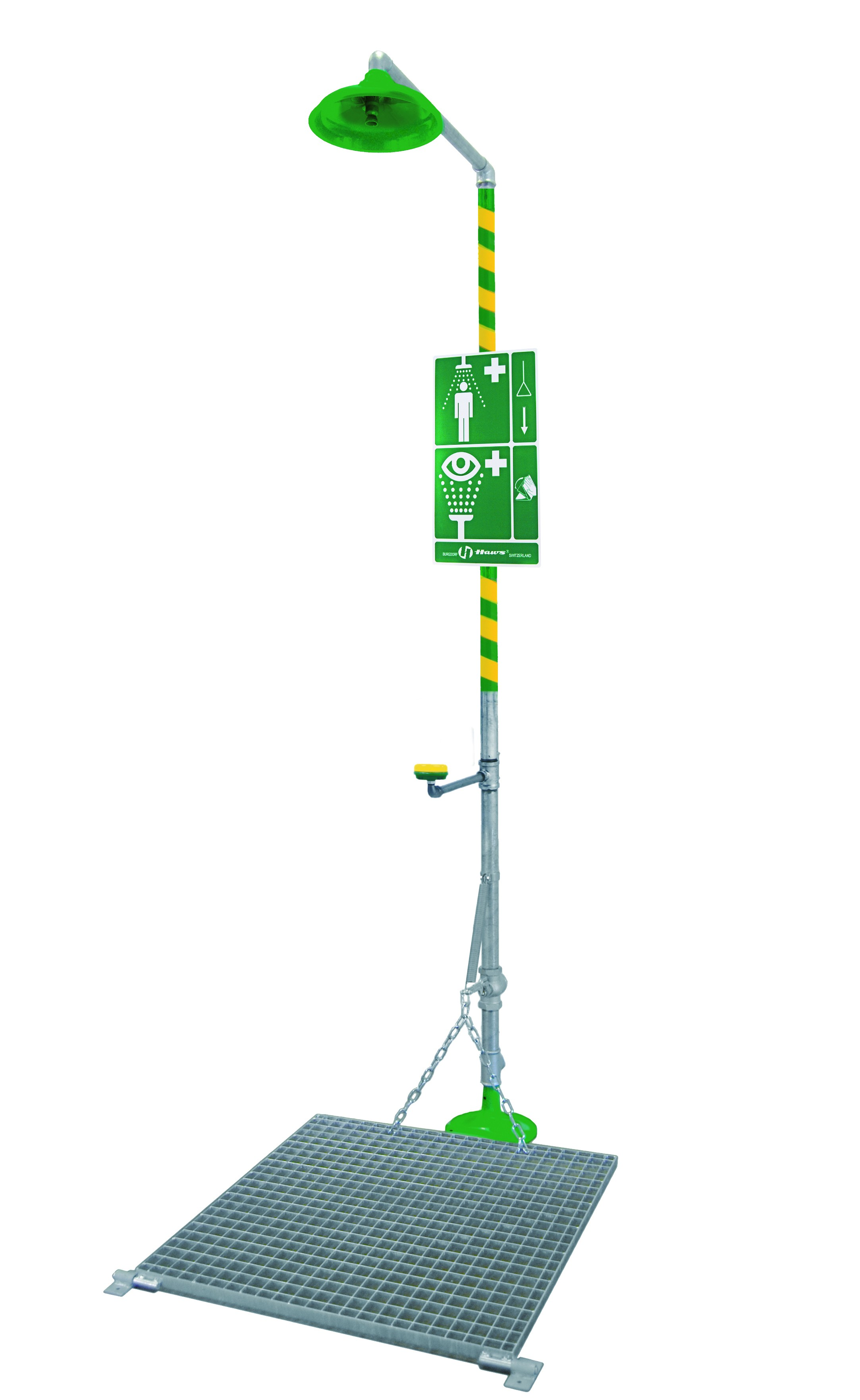 AXION� MSR Emergency Shower and Eye/Face Wash with grate Model: EU-8327