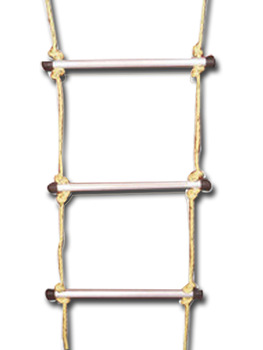 Safety ladder 10M. aluminium rung with 12 MM rope