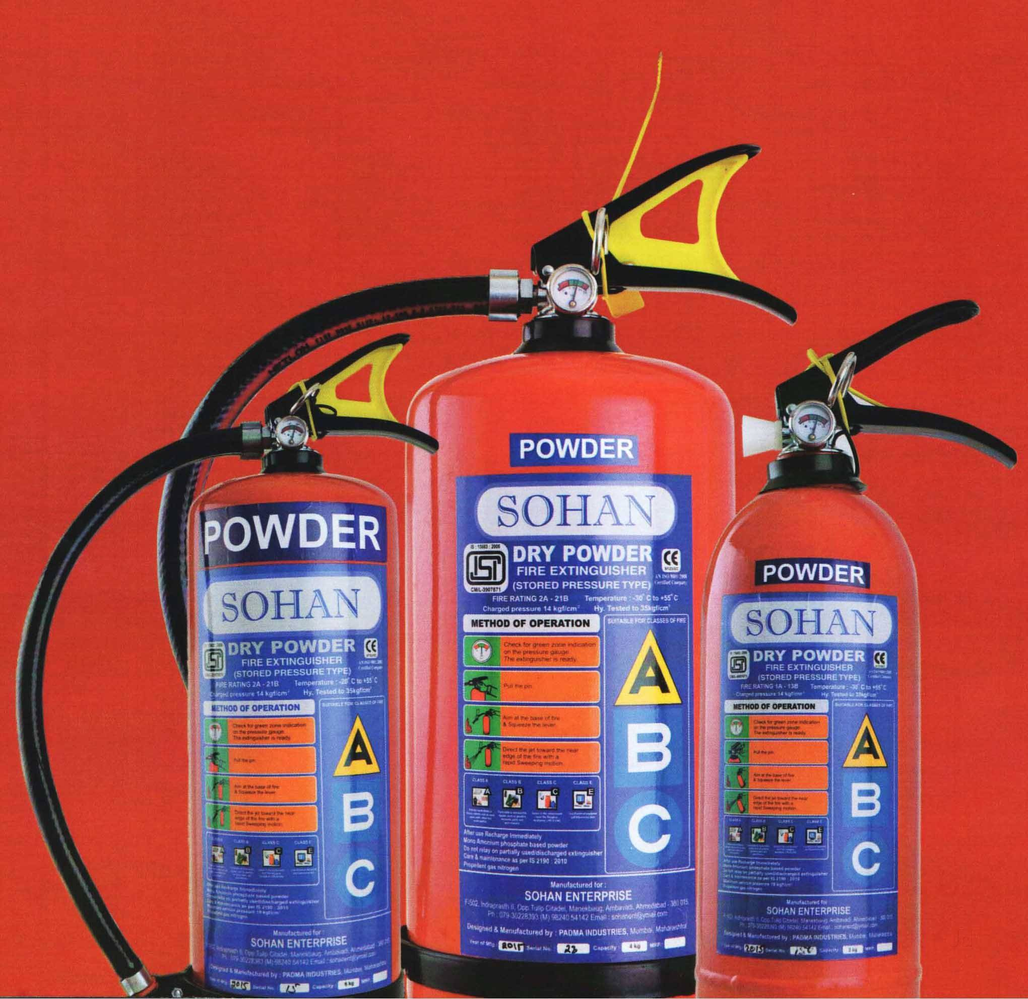SOHAN ISI Fire Extinguisher Stored Pressure ABC Type