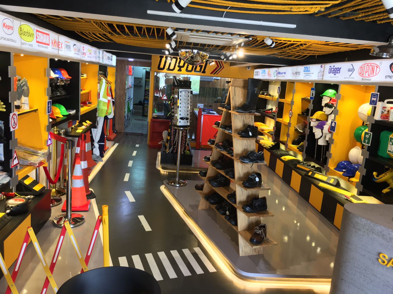showroom safety road