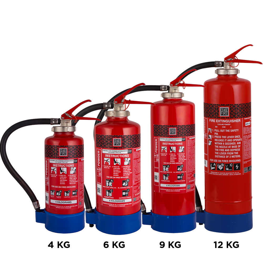 ABC Powder Based Portable Fire Extinguishers