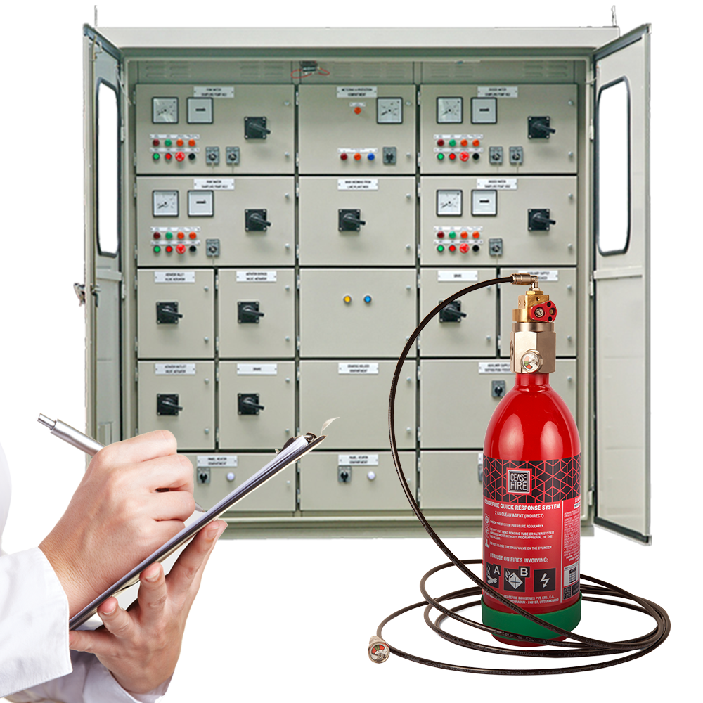 In-Panel Tube Based Fire Suppression-Direct