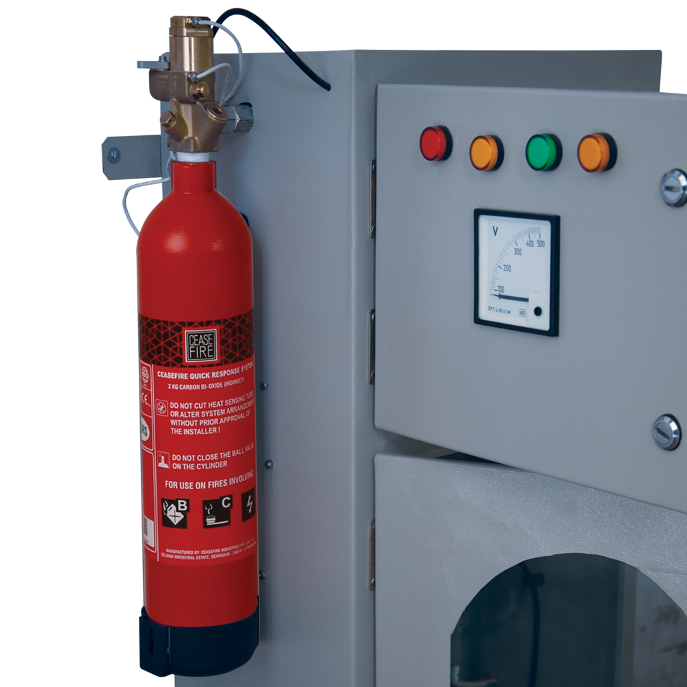In-Panel Tube Based Fire Suppression-Indirect