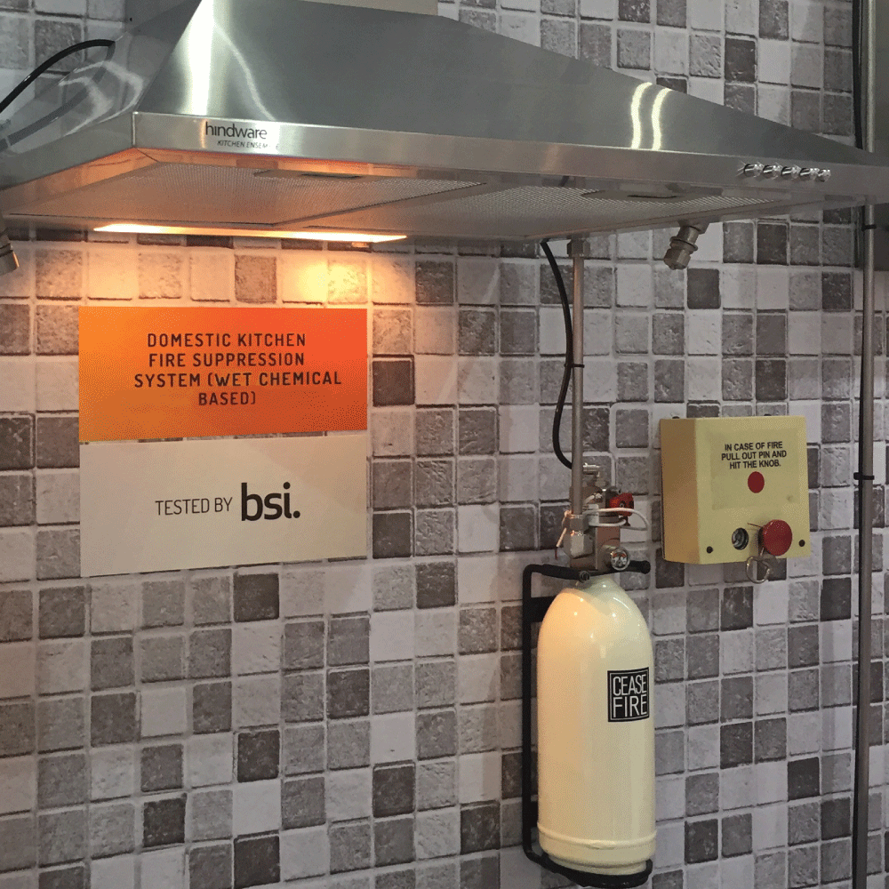 Domestic Kitchen Fire Suppression System