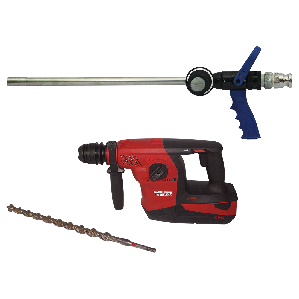 LancePro - Hammer drill Equipped Watermist Based Fire Fighting Guns