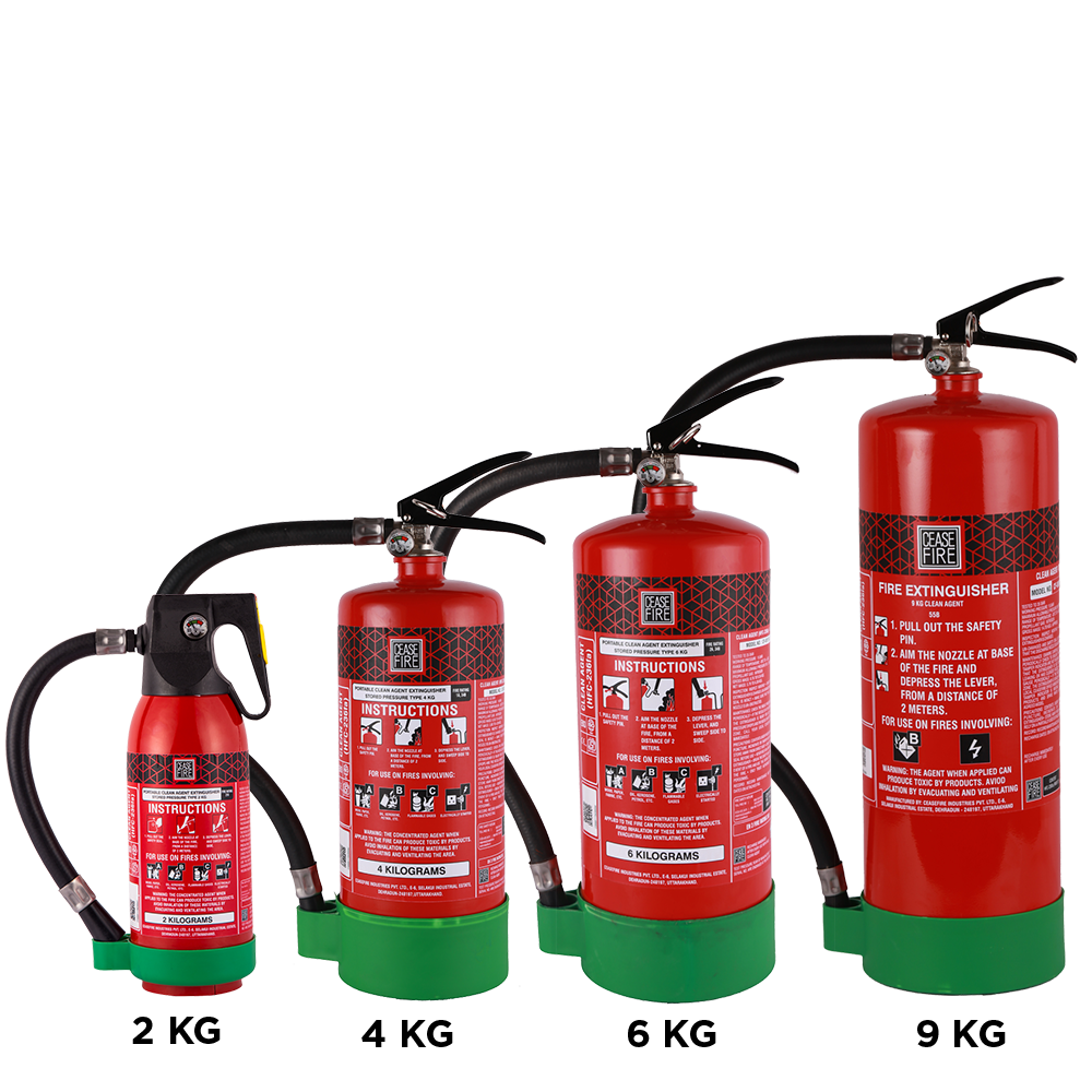 HFC 236fa Based Medical Range Fire Extinguishers