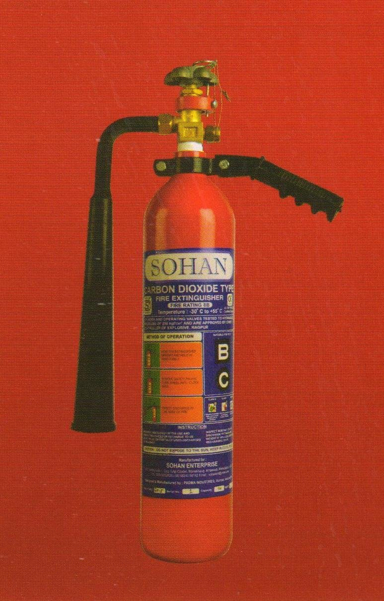SOHAN ISI Fire Extinguisher Stored Pressure CO2 Type
